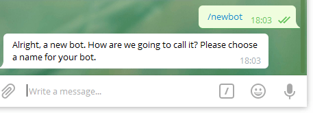 Создание бота в Telegram