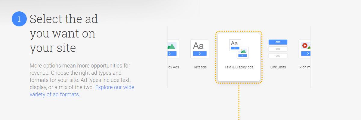 как заработать на google adsense - select the text you want to add