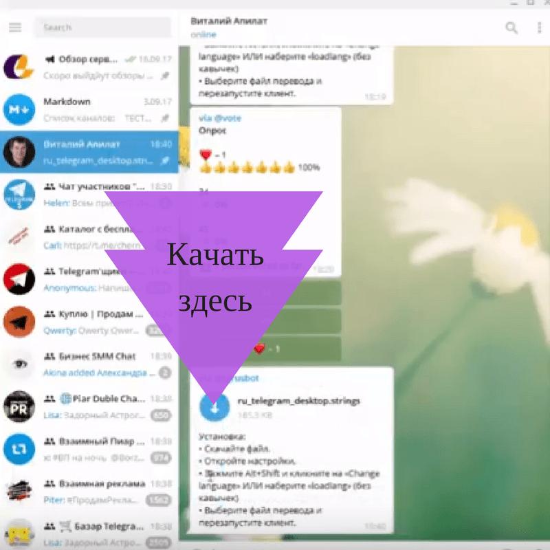 Русификация-telegram-скачать-русификатор